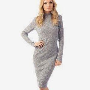 Fashion Union Mock Neck Bodycon Ribbed Dress